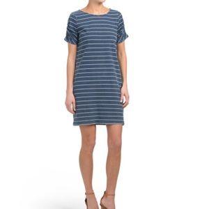 jane and delancey striped short sleeve dress Sz S